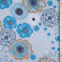 Jersey modal herbsttraum bleu/gris