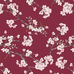 Jersey modal blossom bordeaux