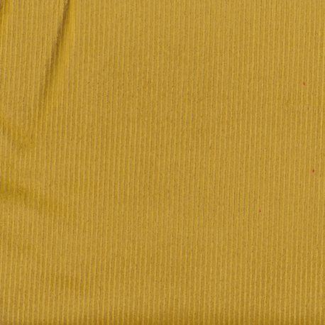 Velours côtelé stretch moutarde