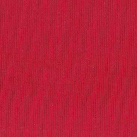 Velours côtelé stretch rouge