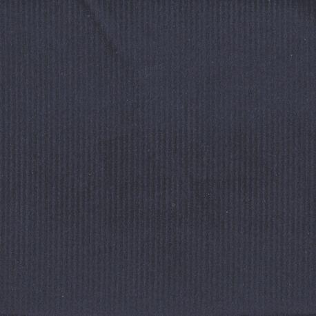 Velours côtelé stretch marine