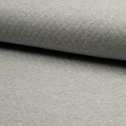 Jersey matelassé coton gris chiné