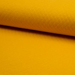 Jersey matelassé coton moutarde