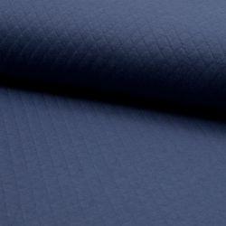 Jersey matelassé coton bleu jean