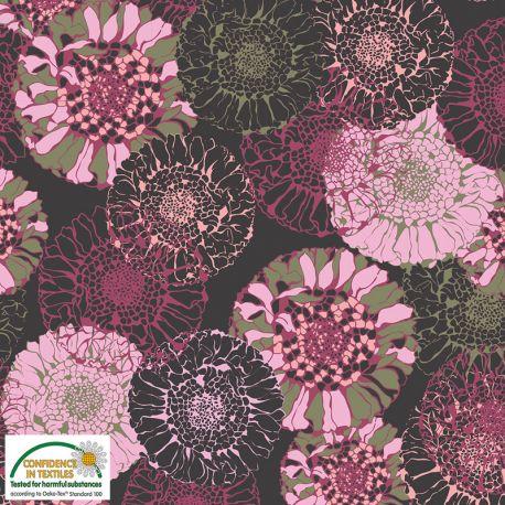 Jersey mandala flowers