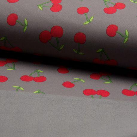 Softshell imprimé cherry gris