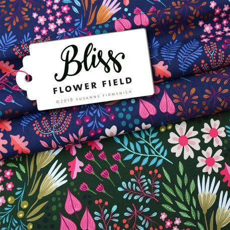 Jersey bio bliss flower field navy