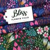 Jersey bio bliss flower field navy
