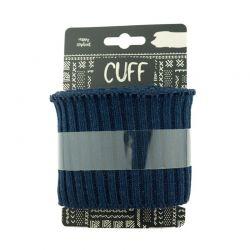 Cuff grosses côtes lurex navy