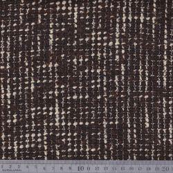 Lainage tweed chocolat/écru/cuivre