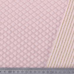 Matelassé coton double face rose/doré
