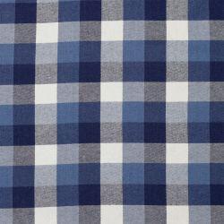 Coton carreaux jean/bleu