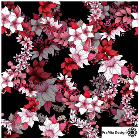 Jersey bio festoon rouge