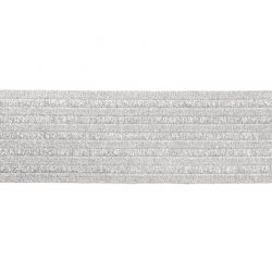 Élastique ceinture 60 mm argent