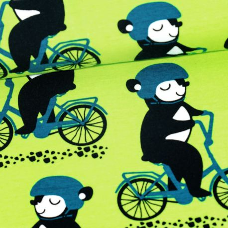 Jersey bio into the cyclist vert pomme/pétrole