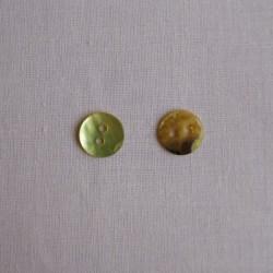 Bouton 10 mm mini nacre vert acide