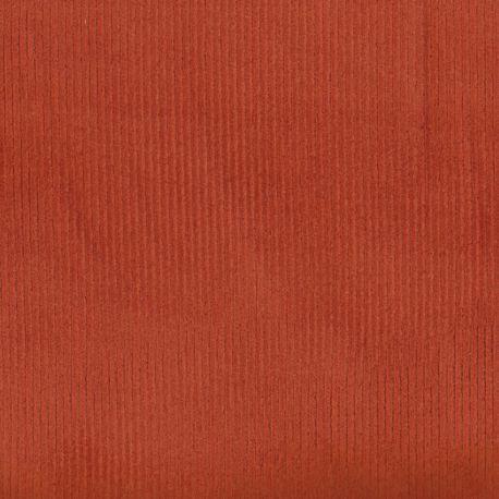Velours côtelé stretch orange brûlée