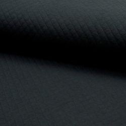 Jersey matelassé coton noir