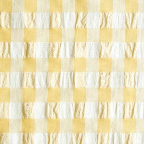 Vichy gaufré jaune