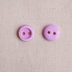 Bouton 11 mm surpiqué rose