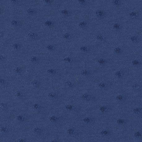 Jersey plumetis indigo
