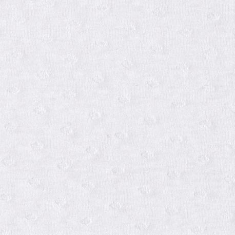 Jersey plumetis blanc