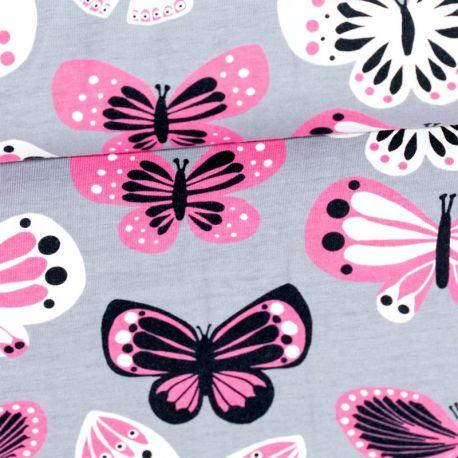 Jersey bio butterfly gris/rose