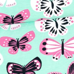Jersey bio butterfly mint/rose