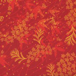 Lycra kyoto leaf rouge