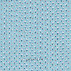 Popeline summer bleu