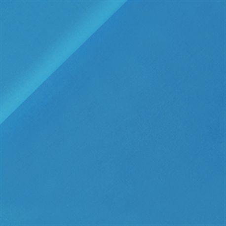 Coton uni bleu vif