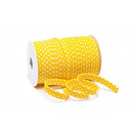 Passepoil à pois jaune