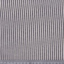 Coton/viscose rayures tissées noir