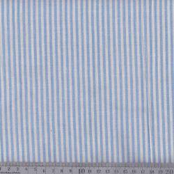 Coton/viscose rayures tissées bleu