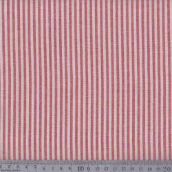 Coton/viscose rayures tissées rouge
