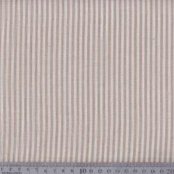 Coton/viscose rayures tissées lin