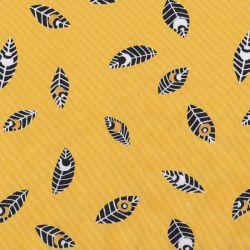 Popeline plumes jaune