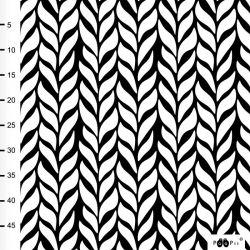 Satin de coton bio plait noir/blanc