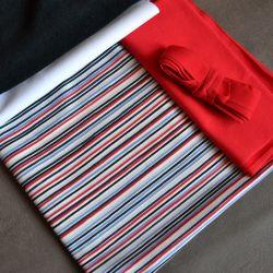 Kit Éternité Variante 1 mini rayures bleu/blanc/rouge