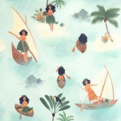 Popeline polynesian seafarers