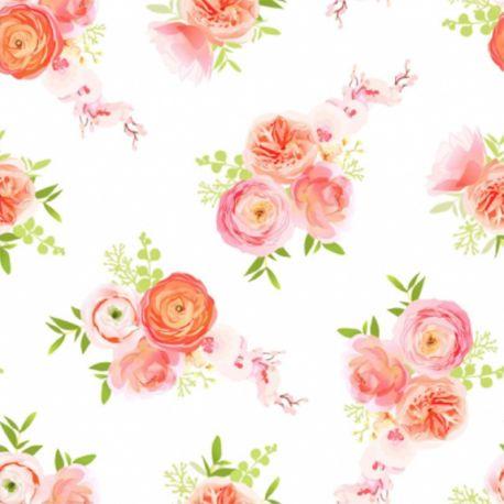 Double gaze fleurs
