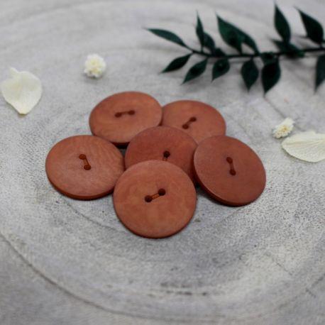 Bouton Atelier Brunette palm 20 mm chestnut
