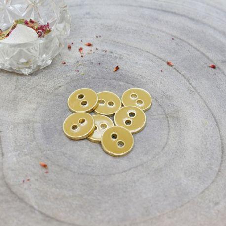 Bouton Atelier Brunette joy 12 mm mustard