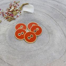 Bouton Atelier Brunette joy 12 mm tangerine