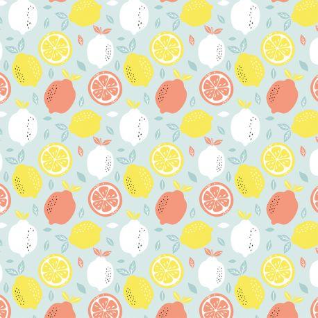 Popeline fresh lemon ciel