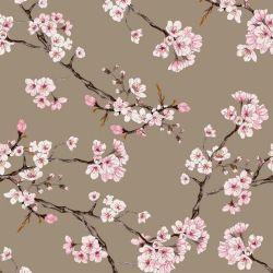 Viscose stretch cherry blossom taupe