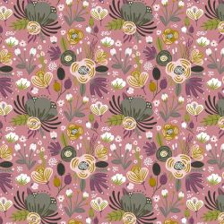Jersey bio flower bouquet vieux rose