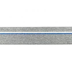 Élastique shorty chiné gris moyen pointillés bleu