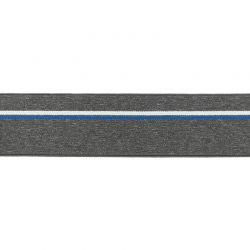 Élastique shorty chiné gris foncé pointillés bleu