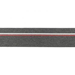 Élastique shorty chiné gris foncé pointillés rouge